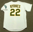 ERIC BYRNES Oakland Athletics 2002 Home Majestic Baseball Throwback Jersey - BACK