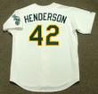 DAVE HENDERSON Oakland Athletics 1989 Home Majestic Baseball Throwback Jersey - BACK