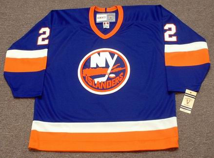 MIKE BOSSY New York Islanders 1982 Away CCM NHL Vintage Throwback Jersey - Front