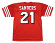 DEION SANDERS San Francisco 49ers 1994 Throwback Home NFL Football Jersey - BACK