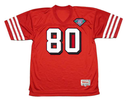 JERRY RICE San Francisco 49ers 1994 Throwback Home NFL Football Jersey - FRONT