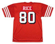 JERRY RICE San Francisco 49ers 1994 Throwback Home NFL Football Jersey - BACK