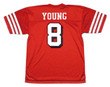 STEVE YOUNG San Francisco 49ers 1994 Throwback Home NFL Football Jersey - BACK