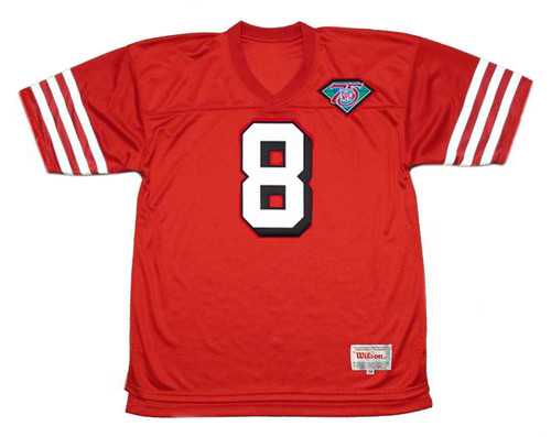 STEVE YOUNG San Francisco 49ers 1994 Throwback Home NFL Football Jersey - FRONT