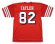 JOHN TAYLOR San Francisco 49ers 1994 Throwback Home NFL Football Jersey - BACK