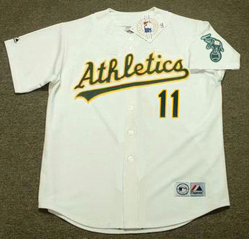 RON CEY Oakland Athletics 1987 Home Majestic Baseball Throwback Jersey - FRONT