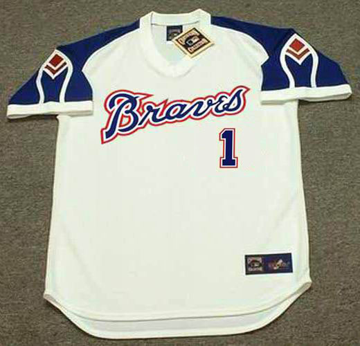 huge selection of b204f b2844 OZZIE ALBIES Atlanta Braves 1970's Home Majestic Throwback Baseball Jersey