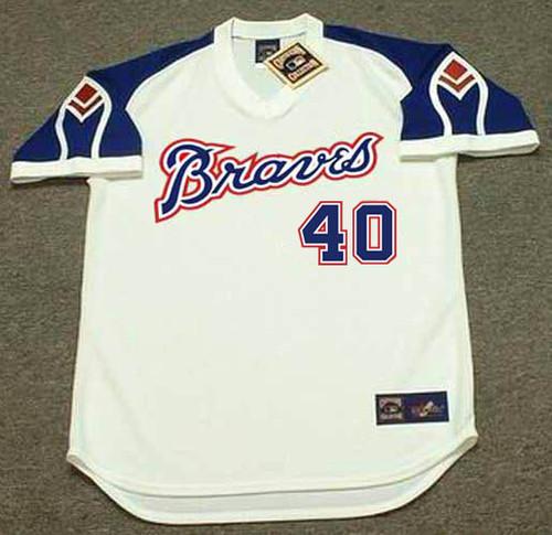 MIKE SOROKA Atlanta Braves 1970's Home Majestic Throwback Baseball Jersey - FRONT