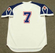 DANSBY SWANSON Atlanta Braves 1970's Home Majestic Throwback Baseball Jersey - BACK