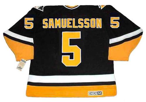 Ulf Samuelsson 1993 Pittsburgh Penguins NHL Throwback Away Jersey - BACK