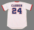 "JIMMY ""CANNON"" WYNN Atlanta Braves 1976 Home Majestic Throwback Baseball Jersey - BACK"