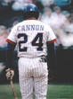 "JIMMY ""CANNON"" WYNN Atlanta Braves 1976 Home Majestic Throwback Baseball Jersey - ACTION"