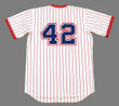 "BIFF ""POCO"" POCOROBA Atlanta Braves 1976 Home Majestic Throwback Baseball Jersey - BACK"