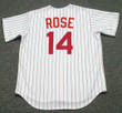 PETE ROSE Cincinnati Reds 1967 Home Majestic Baseball Throwback Jersey - BACK