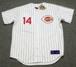 PETE ROSE Cincinnati Reds 1967 Home Majestic Baseball Throwback Jersey - FRONT