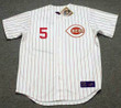 JOHNNY BENCH Cincinnati Reds 1967 Home Majestic Baseball Throwback Jersey - FRONT