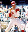 JOHNNY BENCH Cincinnati Reds 1967 Home Majestic Baseball Throwback Jersey - ACTION