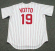 JOEY VOTTO Cincinnati Reds 1967 Home Majestic Baseball Throwback Jersey - BACK