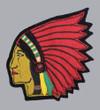 LEW BURDETTE Milwaukee Braves 1955 Away Majestic Throwback Baseball Jersey - SLEEVE CREST