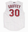KEN GRIFFEY JR. Cincinnati Reds 2000 Home Russell Authentic Throwback Baseball Jersey - BACK