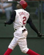 DEION SANDERS Cincinnati Reds 2001 Home Russell Authentic Throwback Baseball Jersey - ACTION