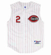 DEION SANDERS Cincinnati Reds 2001 Home Russell Authentic Throwback Baseball Jersey - FRONT