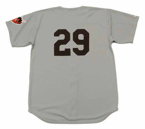 SATCHEL PAIGE St. Louis Browns 1953 Away Majestic Throwback Baseball Jersey - BACK