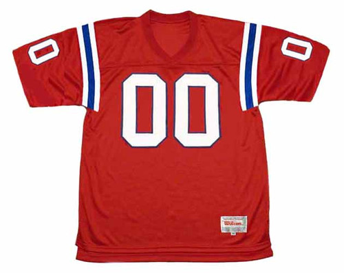NEW ENGLAND PATRIOTS 1980's Throwback Home NFL Customized Jersey - FRONT