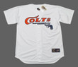 GERRIT COLE Houston Colt .45's 1960's Home Majestic Baseball Throwback Jersey - FRONT