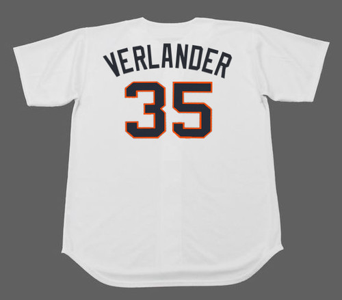 JUSTIN VERLANDER Houston Colt .45's 1960's Home Majestic Baseball Throwback Jersey - BACK