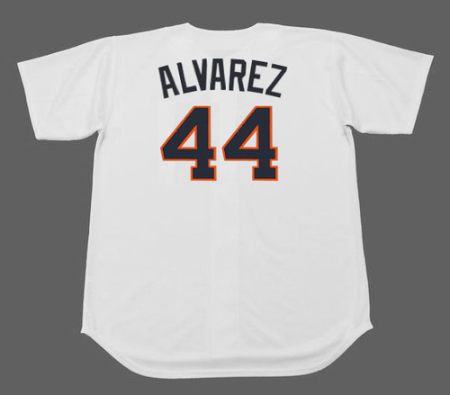 YORDAN ALVAREZ Houston Colt .45's 1960's Home Majestic Baseball Throwback Jersey -BACK