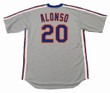 PETE ALONSO New York Mets 1987 Away Majestic Throwback Baseball Jersey - BACK