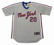 PETE ALONSO New York Mets 1987 Away Majestic Throwback Baseball Jersey - FRONT