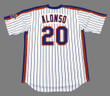 PETE ALONSO New York Mets 1986 Home Majestic Throwback Baseball Jersey - BACK