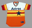 GERRIT COLE Houston Astros 1980's Home Majestic Throwback Baseball Jersey - FRONT