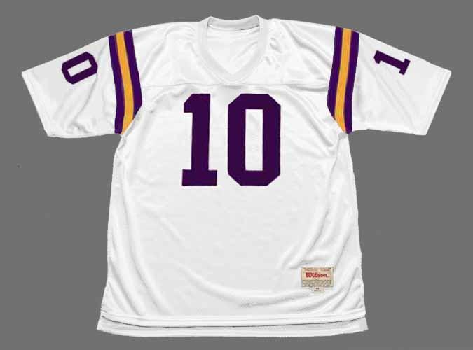 FRAN TARKENTON Minnesota Vikings 1975 Away Throwback NFL Football Jersey