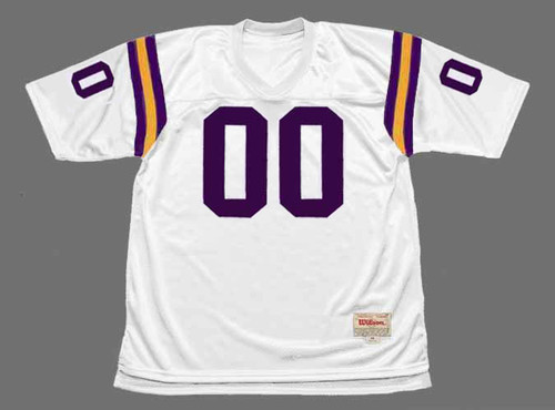 MINNESOTA VIKINGS 1970's Throwback Away NFL Customized Jersey - FRONT