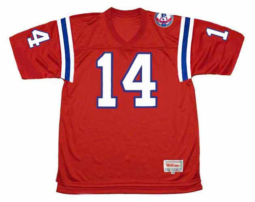 STEVE GROGAN New England Patriots 1984 Throwback Home NFL Football Jersey - FRONT