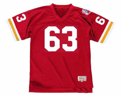 WILLIE LANIER Kansas City Chiefs 1969 Throwback Home NFL Football Jersey - ACTION
