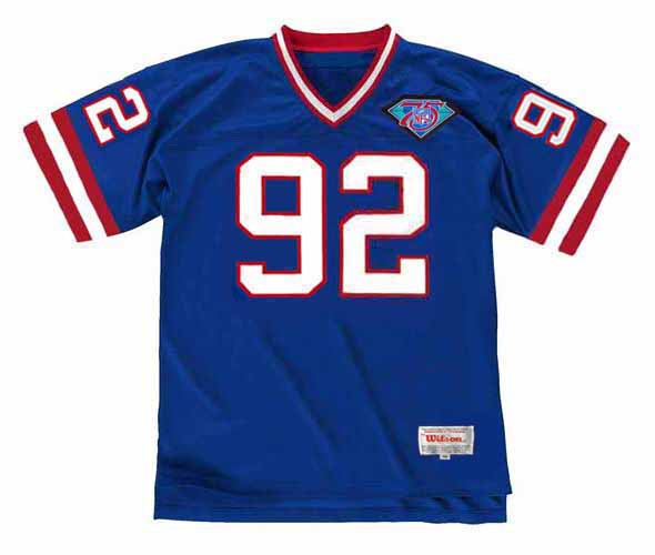 MICHAEL STRAHAN New York Giants 1994 Throwback Home NFL Football Jersey