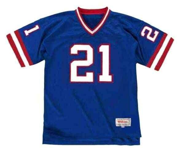 TIKI BARBER New York Giants 1997 Throwback Home NFL Football Jersey