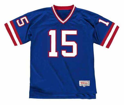 JEFF HOSTETLER New York Giants 1988 Throwback Home NFL Football Jersey - FRONT