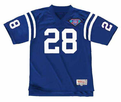 MARSHALL FAULK Indianapolis Colts 1994 Throwback Home NFL Football Jersey - FRONT
