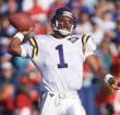 WARREN MOON Minnesota Vikings 1994 Throwback Away NFL Football Jersey - ACTION