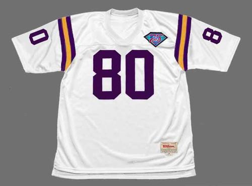 CRIS CARTER Minnesota Vikings 1994 Throwback Away NFL Football Jersey - FRONT