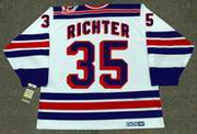 MIKE RICHTER New York Rangers 1994 Home CCM NHL Vintage Throwback Jersey - BACK