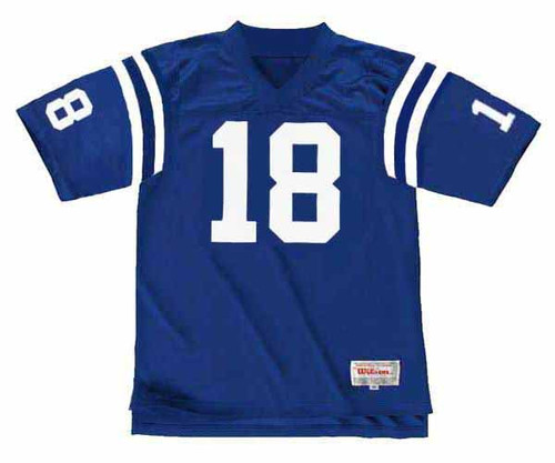 PEYTON MANNING Indianapolis Colts 1998 Throwback Home NFL Football Jersey - FRONT