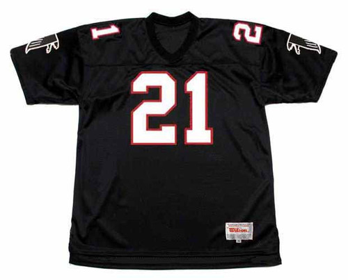 DEION SANDERS Atlanta Falcons 1992 Home Throwback NFL Football Jersey - FRONT