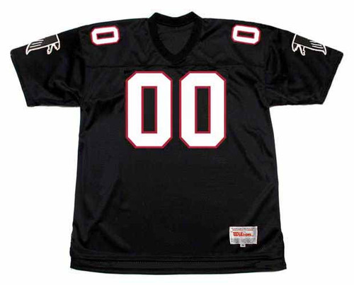 ATLANTA FALCONS 1990's Throwback Home NFL Customized Jersey - FRONT