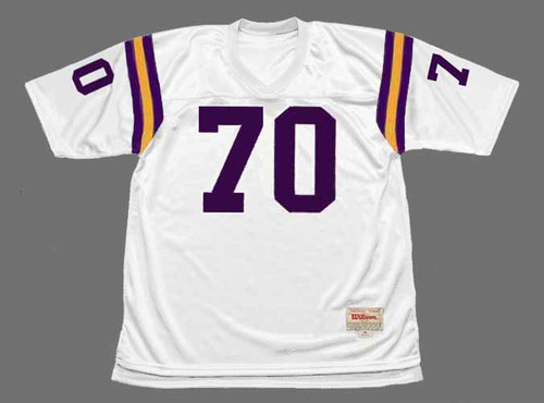 JIM MARSHALL Minnesota Vikings 1975 Away Throwback NFL Football Jersey - FRONT
